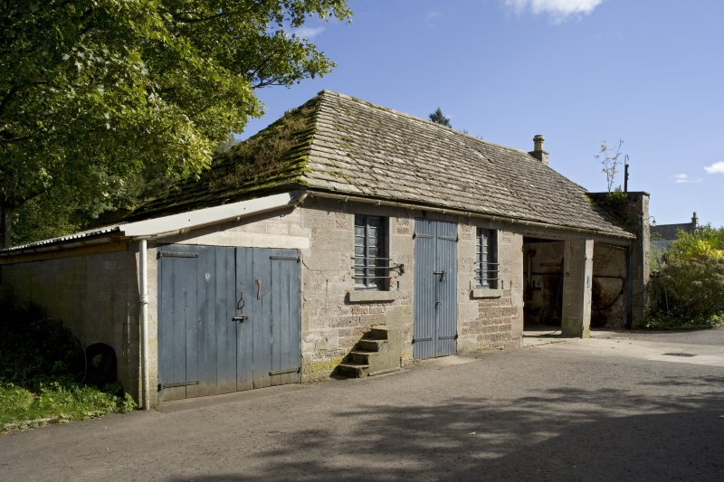 Coach house and stable from north west.
