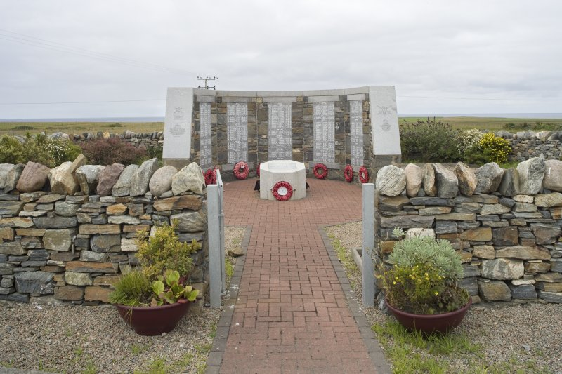View looking into the enclosure towards the North Lewis War Memorial
