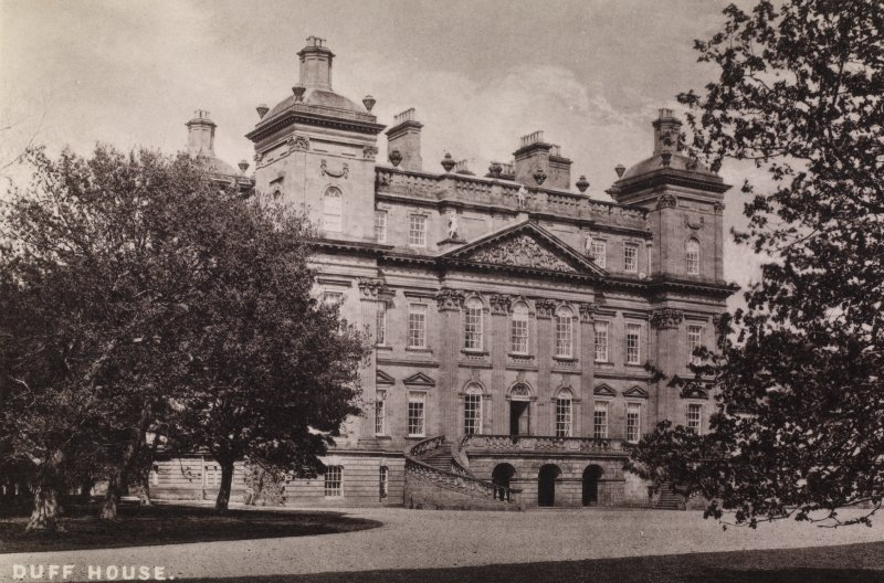 Duff House. General view of front of building. Titled 'Duff House'. PHOTOGRAPH ALBUM NO:11 KIRSTY'S BANFF ALBUM