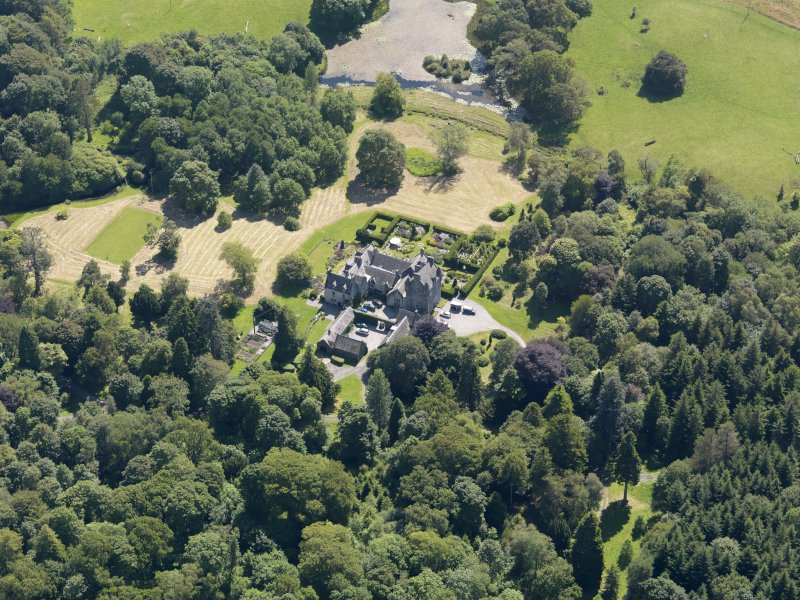 Oblique aerial view of Craighlaw, taken from the N.