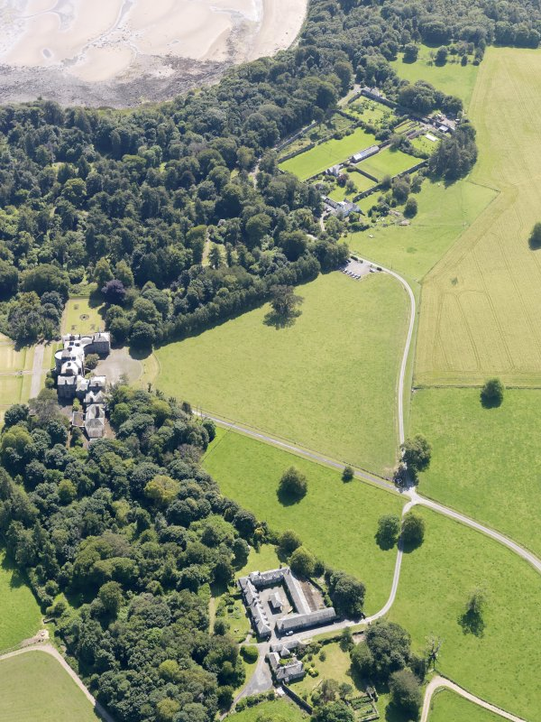 General oblique aerial view of Galloway House and policies, taken from the N.
