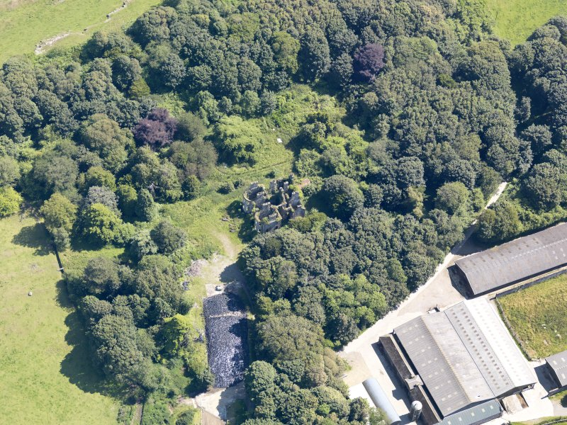Oblique aerial view of Castlewigg country house, taken from the NW.