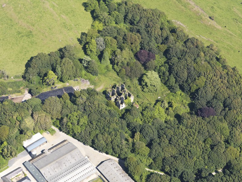 Oblique aerial view of Castlewigg country house, taken from the WSW.