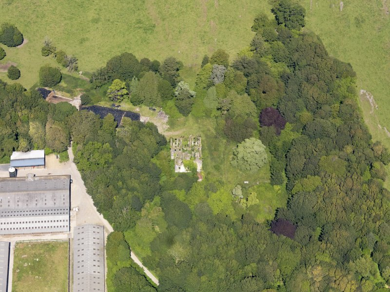 Oblique aerial view of Castlewigg country house, taken from the SW.