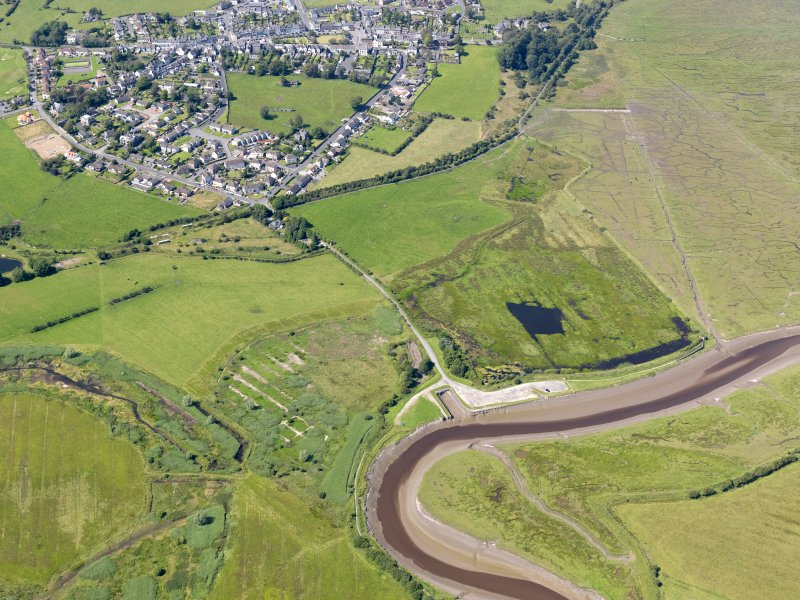 General oblique aerial view of Wigtown Harbour, taken from the SE.