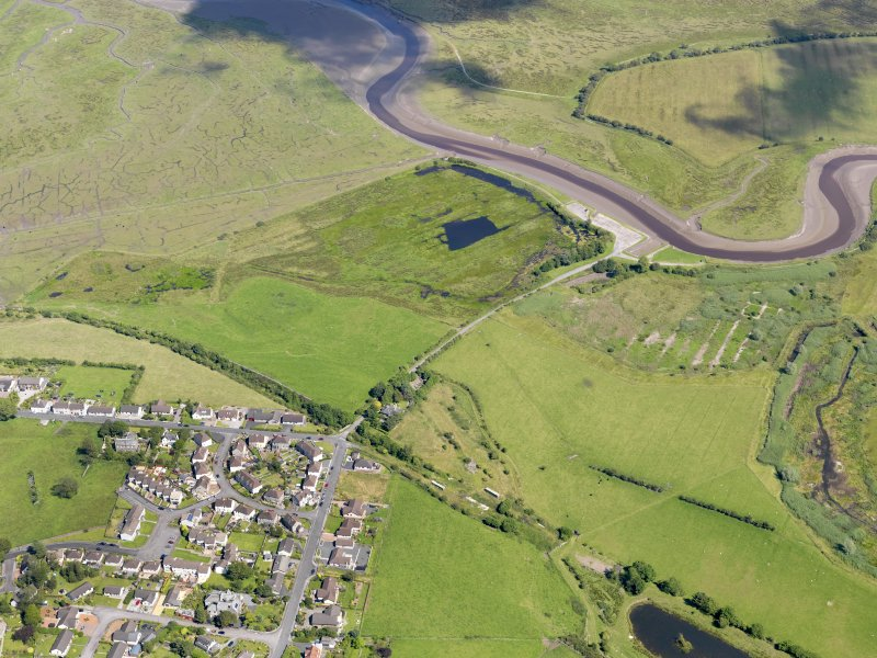 General oblique aerial view of Wigtown Harbour, taken from the W.