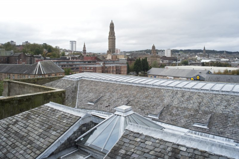 Roof, view looking W to Greenock town centre