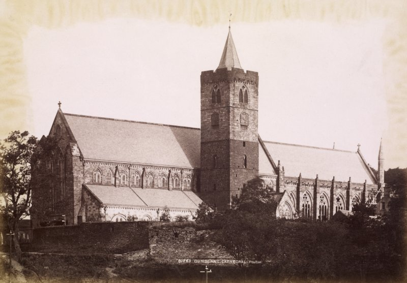 General view of Dunblane Cathedral. Titled: '01740 Dunblane Cathedral. Poulton' PHOTOGRAPH ALBUM NO:11 KIRSTY'S BANFF ALBUM