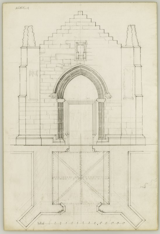 Elevation and Ground Plan of South Porch