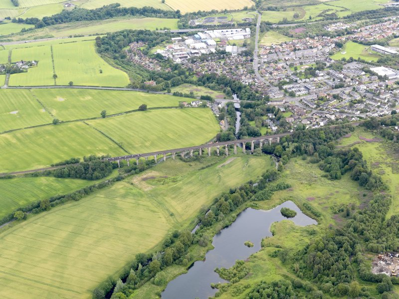 General oblique aerial view of Avon Viaduct, taken from the SSW.
