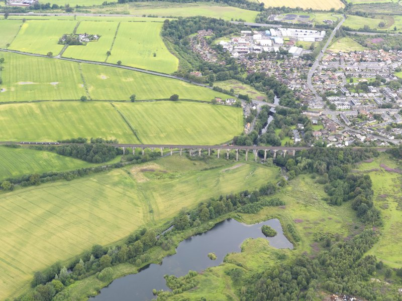 General oblique aerial view of Avon Viaduct, taken from the S.