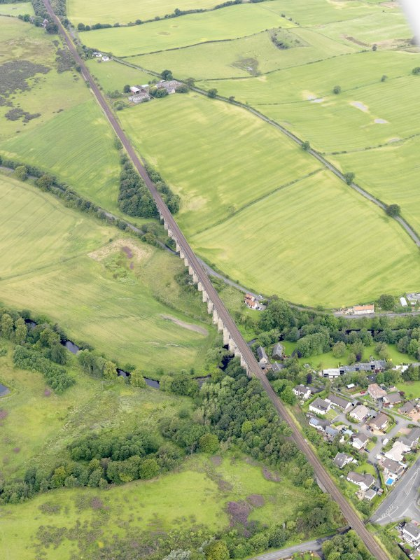Oblique aerial view of Avon Viaduct, taken from the SE.