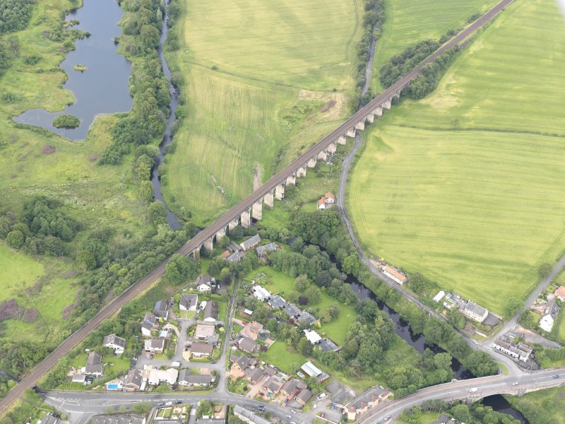 Oblique aerial view of Avon Viaduct, taken from the NE.