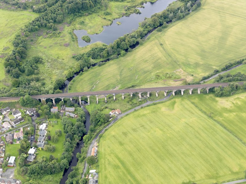 Oblique aerial view of Avon Viaduct, taken from the NNE.