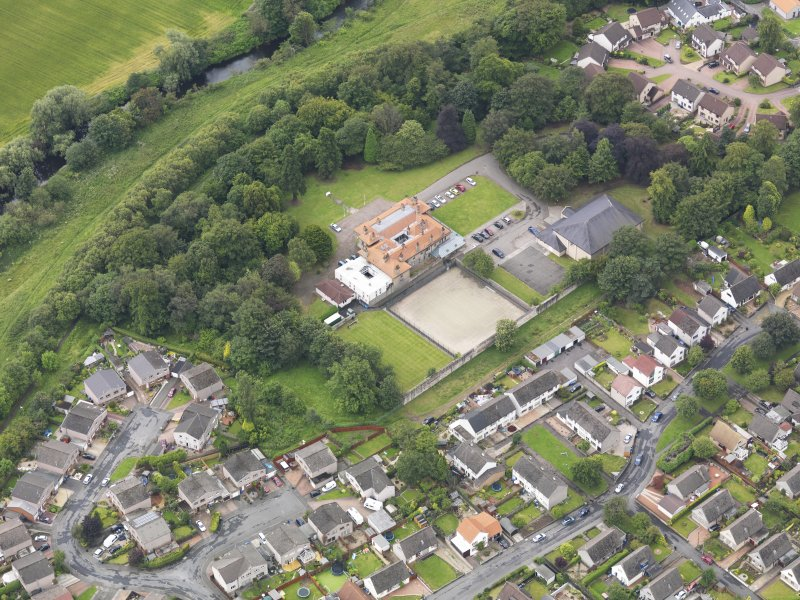 Oblique aerial view of Carronvale House, taken from the N.