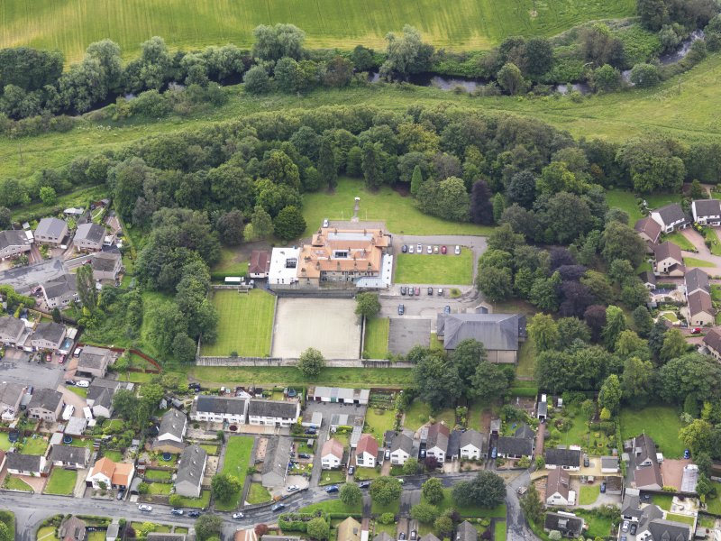 Oblique aerial view of Carronvale House, taken from the NW.