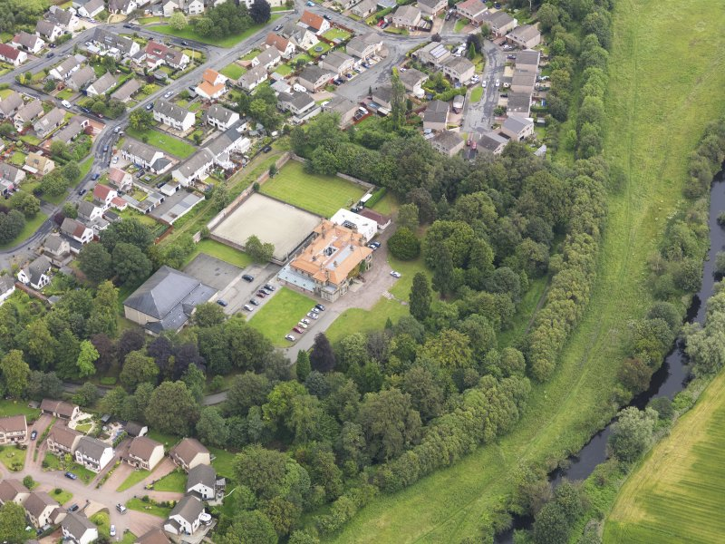 Oblique aerial view of Carronvale House, taken from the SSW.