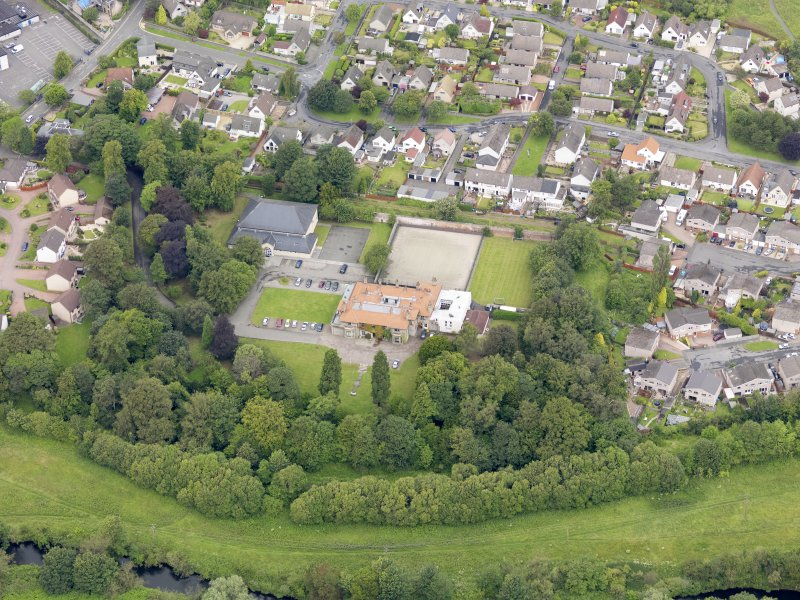 Oblique aerial view of Carronvale House, taken from the SE.