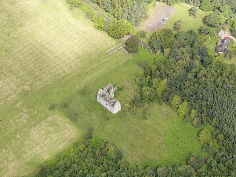 Oblique aerial view of Torwood Castle, taken from the SE.