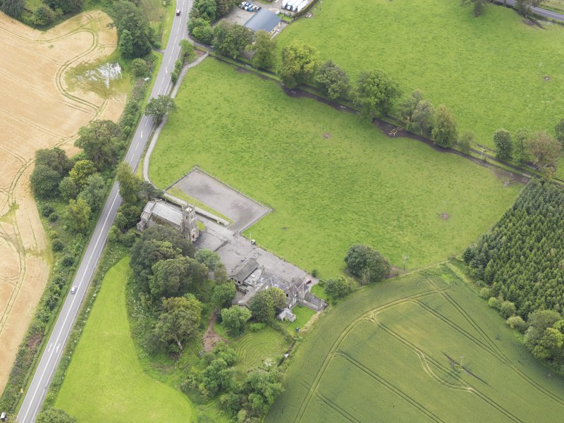Oblique aerial view of Kincardine Parish Church, taken from the NW.