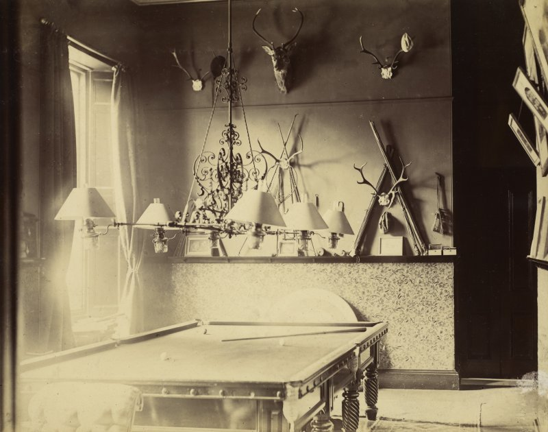 View of billiard room at St Fort House.