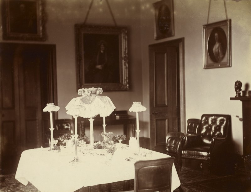 View of dining room at St Fort House.