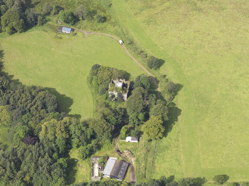 Oblique aerial view of Granton House, taken from the E.