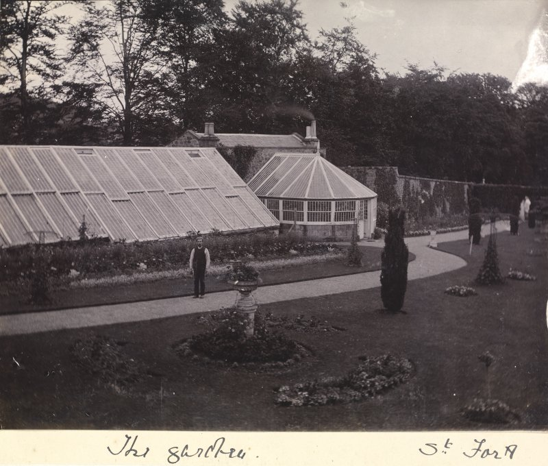 General view of the conservatory and greenhouse at St Fort House.