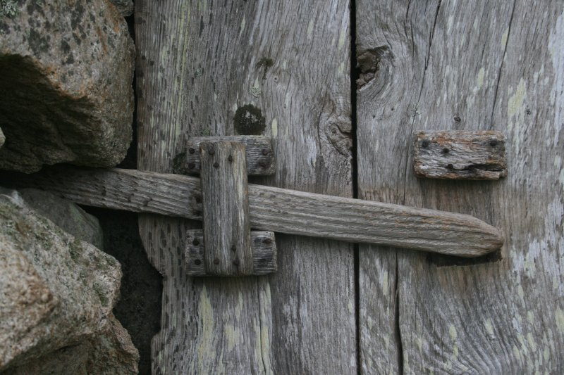 St Kilda, Hirta. Detail of cleit door