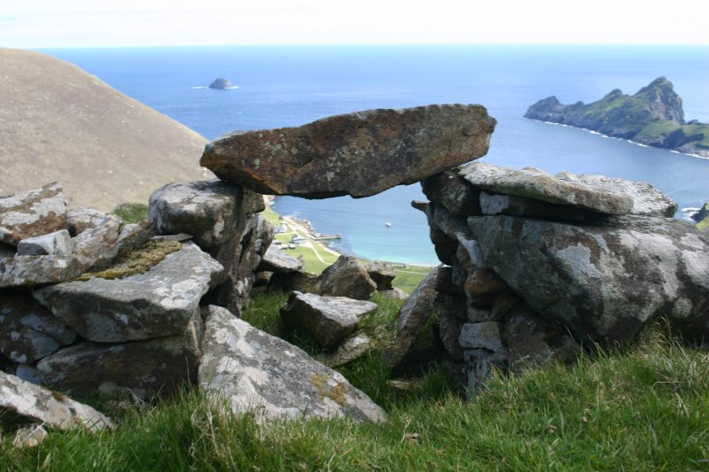 St Kilda, Hirta. View of roofless cleit.