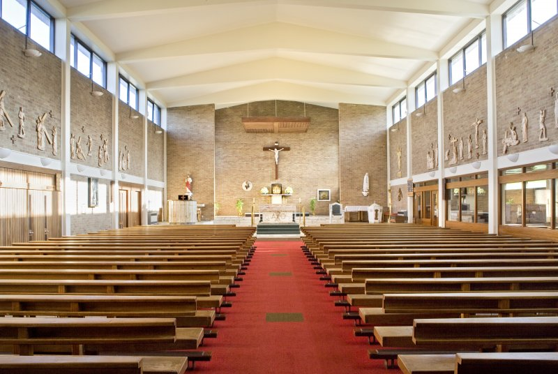 Interior. Nave from west.