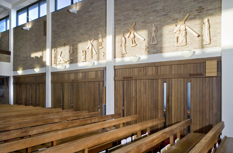 Interior. Nave. Doors to Confessionals.