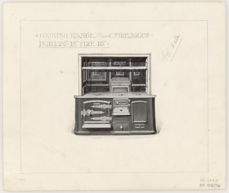 Design of a cooking range for Hamilton Municipal Buildings.