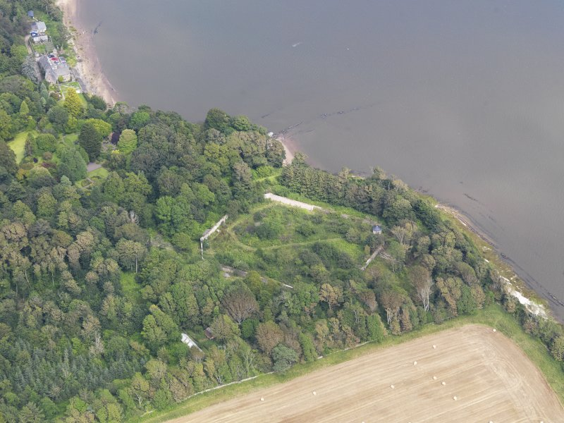 Oblique aerial view of Arbigland House walled garden, taken from the SW.
