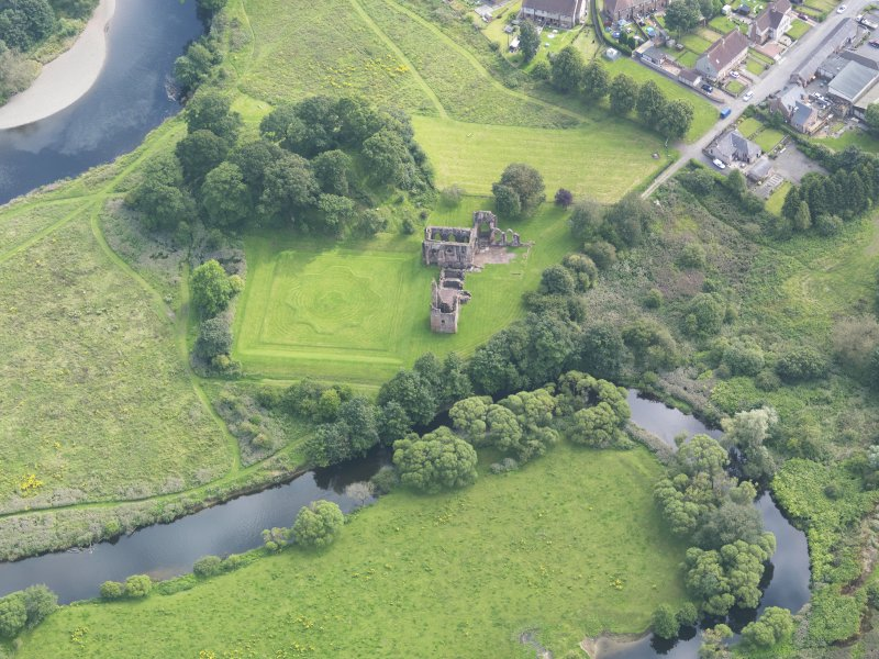 Oblique aerial view of Lincluden College, taken from the N.