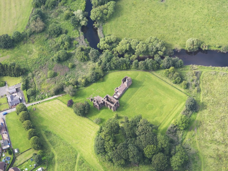 Oblique aerial view of Lincluden College, taken from the SSE.