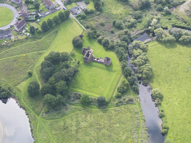 Oblique aerial view of Lincluden College, taken from the ENE.