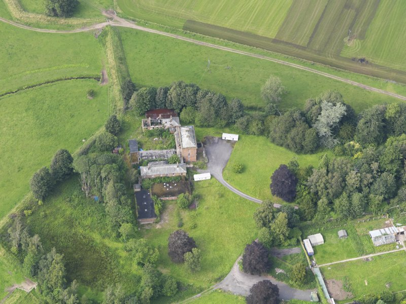 Oblique aerial view of Carnsalloch House, taken from the SSE.