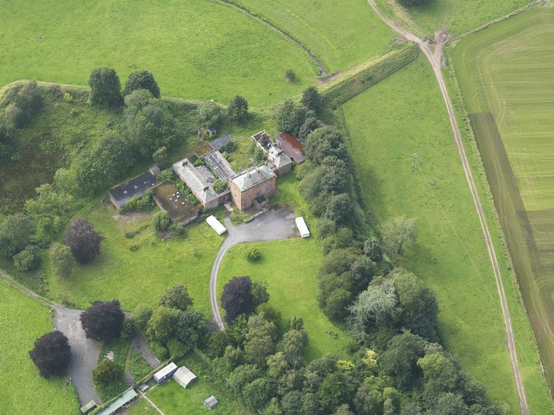 Oblique aerial view of Carnsalloch House, taken from the ESE.