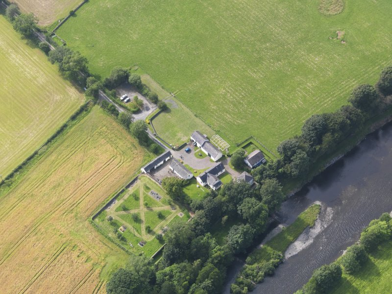 Oblique aerial view of Ellisland Farm, taken from the ESE.