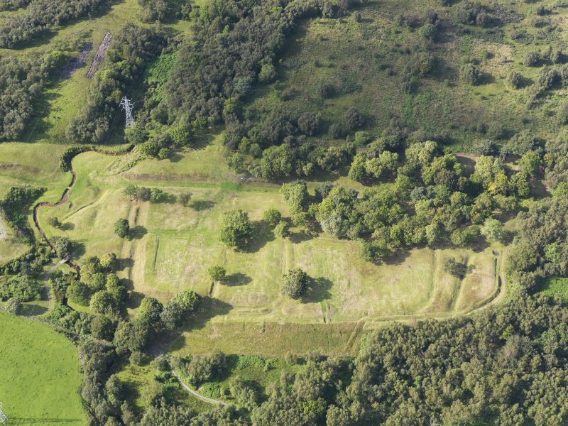 Oblique aerial view of Rough Castle, taken from the SSE.