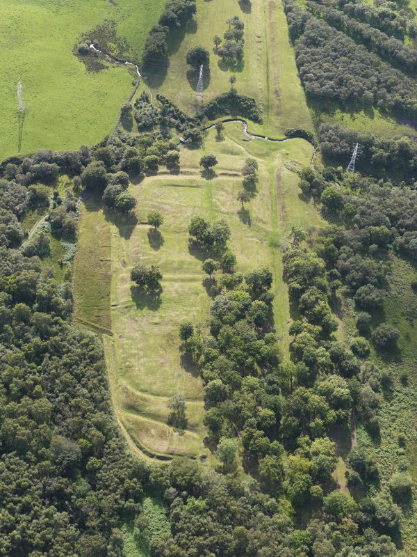Oblique aerial view of Rough Castle, taken from the ENE.