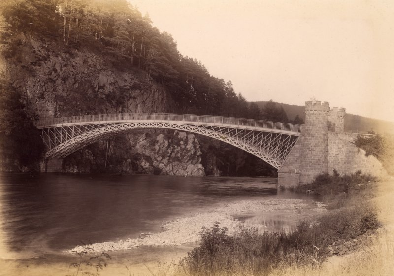 View of Craigellachie Bridge Titled: 'Telford's Bridge, Spey, Craigellachie.'