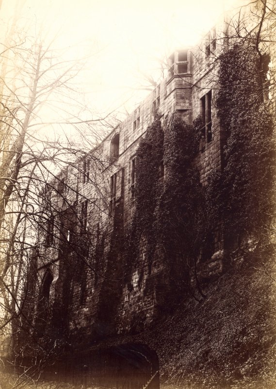 View of ruins Titled: 'Palace ruins, Dunfermline.'