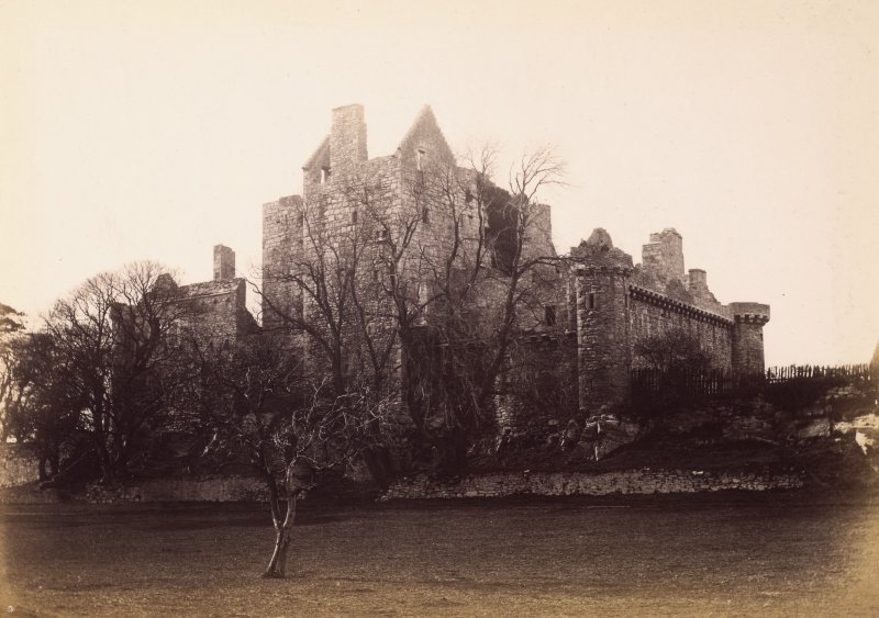 View of castle from South East Titled: ' Craigmillar Castle.' PHOTOGRAPH ALBUM NO.7: CAMERA CLUB ALBUM