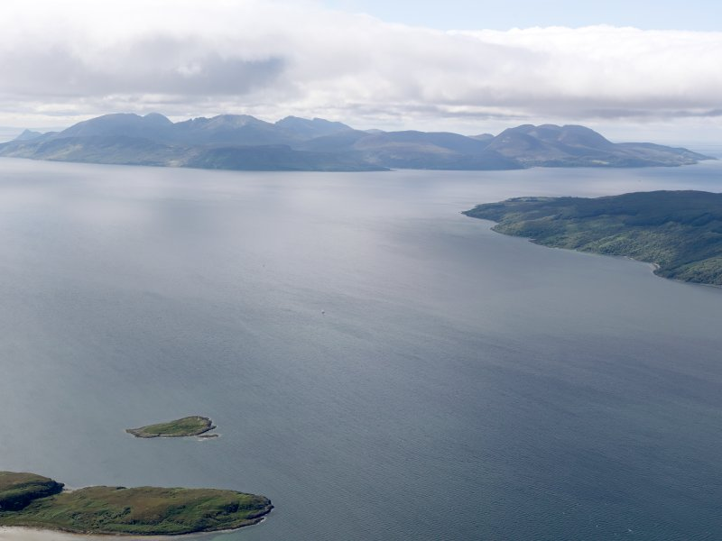 General oblique aerial view of Arran, taken from the N.