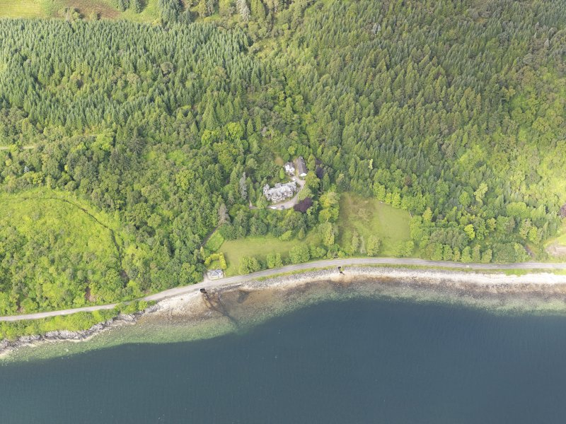 General oblique aerial view of Erines House, taken from the E.