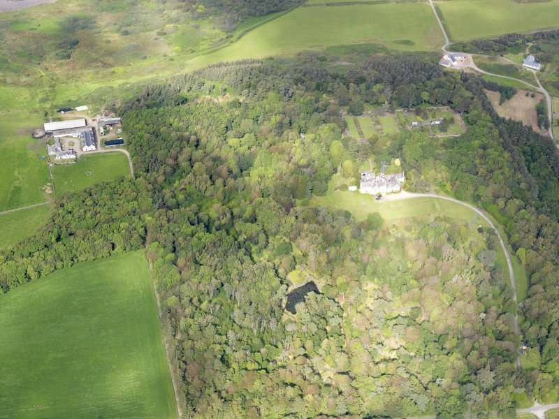 Oblique aerial view of Achamore House, taken from the SE.