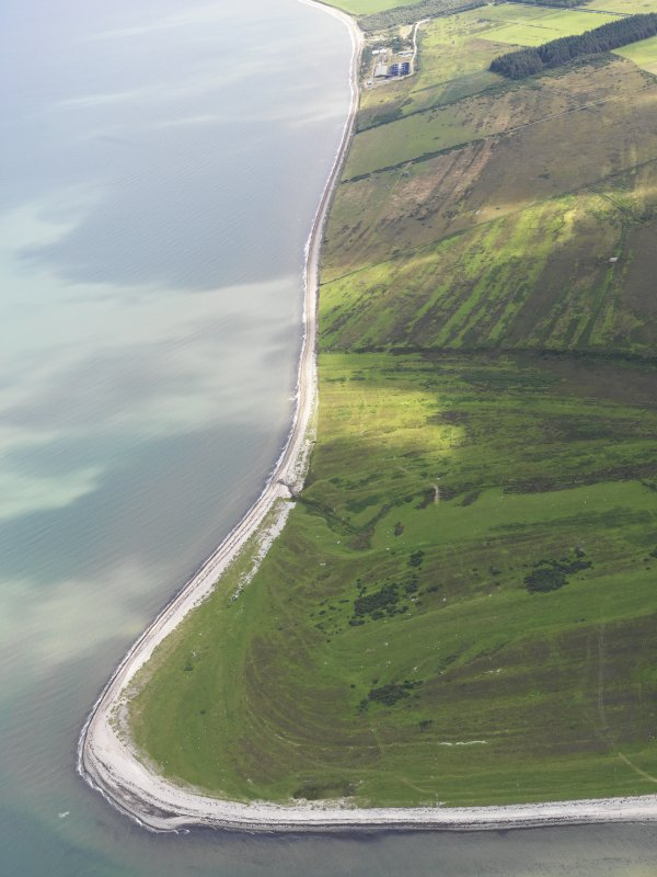 General oblique aerial view of Rhunahaorine Point, taken from the SW.