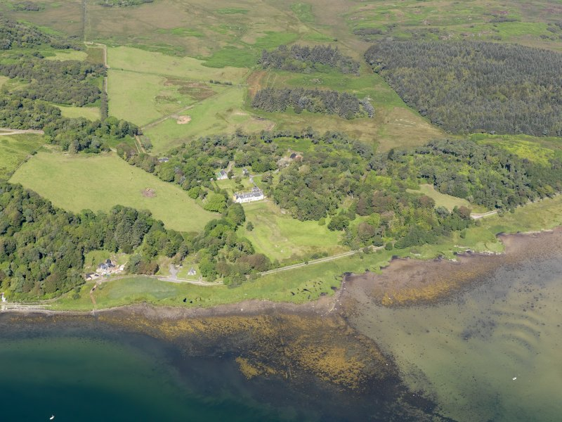 General oblique aerial view of Ardpatrick House and policies, taken from the SE.
